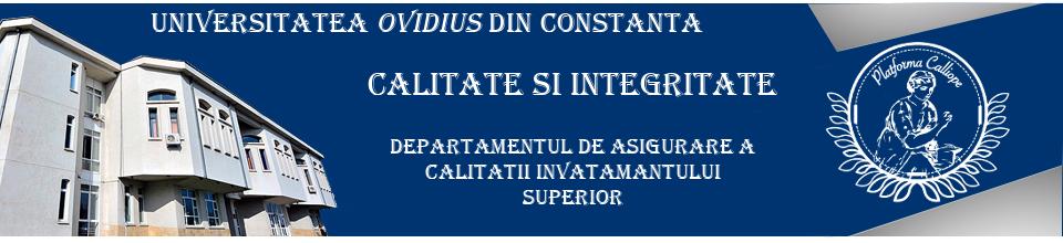 DEPARTAMENTUL DE ASIGURARE A CALITĂŢII ÎNVĂŢĂMÂNTULUI SUPERIOR (DACIS)